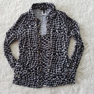 BCBGMaxAzria Button Down Shirt with Attached Tank
